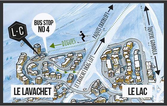 Le Lavachet Map